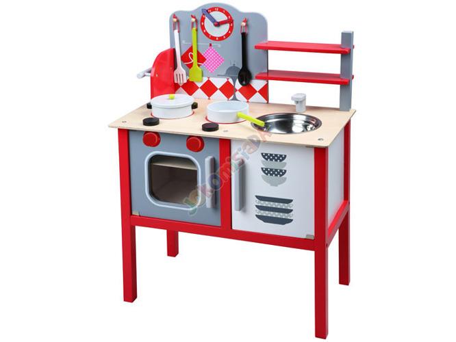 DREWNIANA kuchnia KUCHENKA dla dzieci + garnki Zabawki AG -> Kuchnia Drewniana Dla Dzieci Zabawki