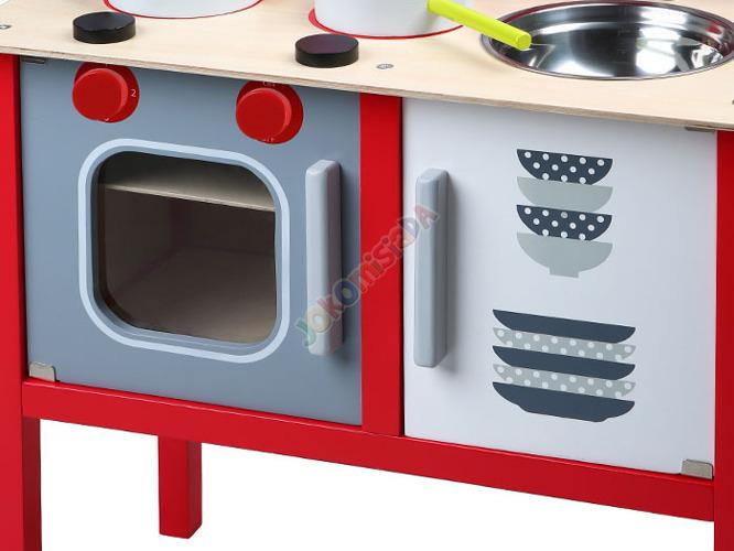 DREWNIANA kuchnia KUCHENKA dla dzieci + garnki Zabawki AGD -> Kuchnia Hiszpanska Dla Dzieci